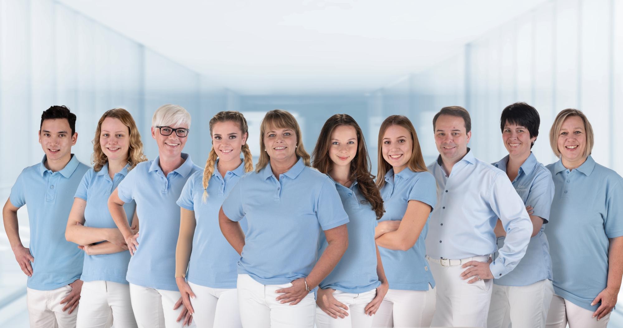 Das hervorragende Team des Empfangs der Tages-Zahnklinik Neu-Anspach